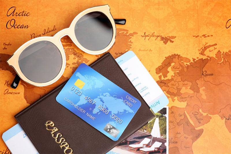 sunglasses and passport